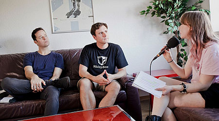 Lisa im Interview mit Jimmy Eat World